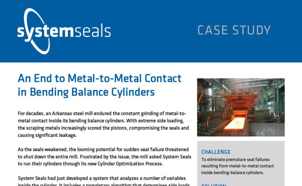 An End to Metal-to-Metal Contact in Bending Balance Cylinders