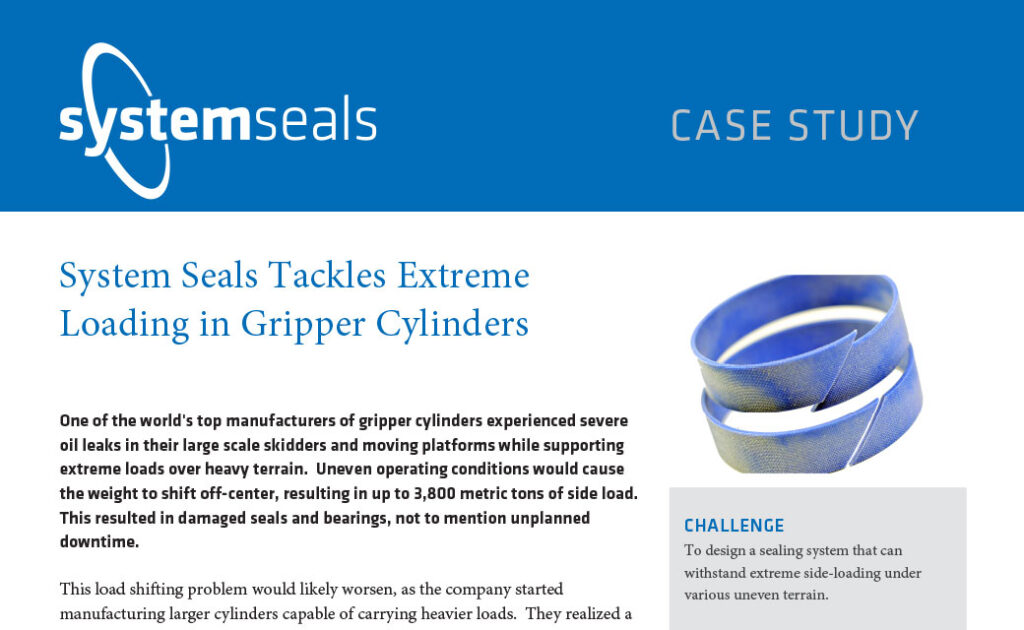 System Seals Tackles Extreme Loading in Gripper Cylinders