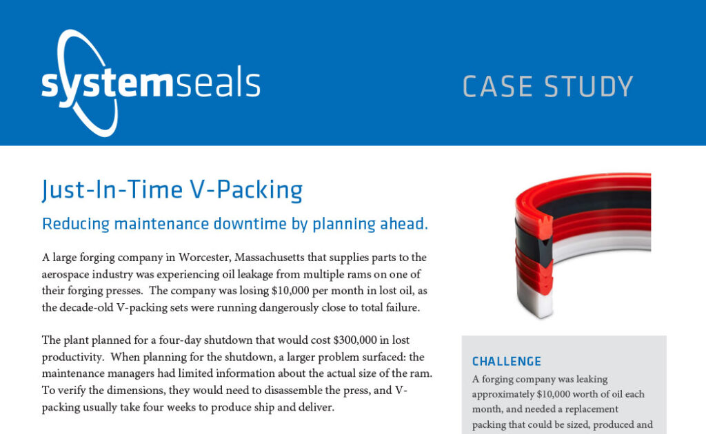 Just-In-Time V-Packing