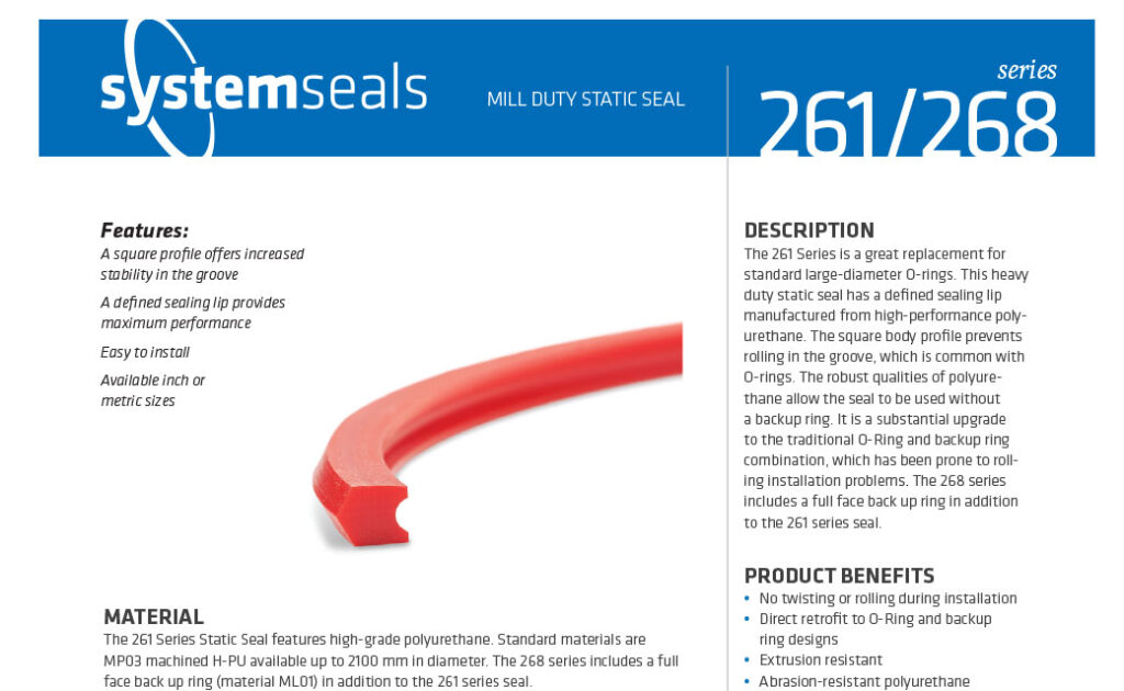 261 Series Mill Duty Static Seal