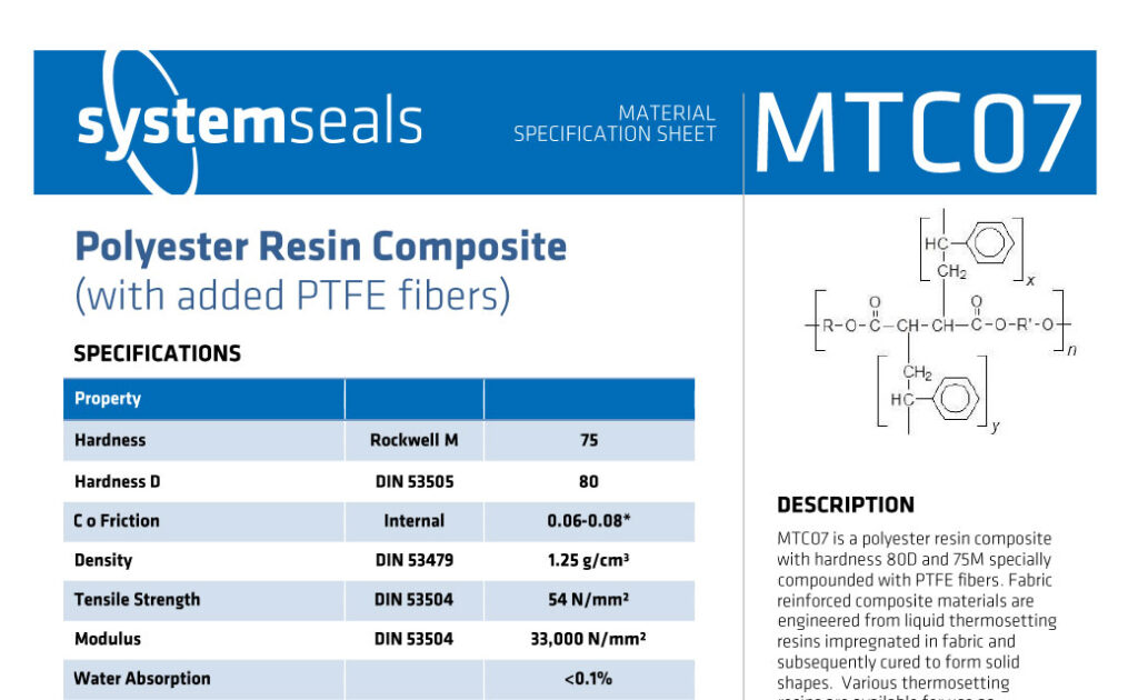 MTC07 Polyester Resin PTFE 80D 75M