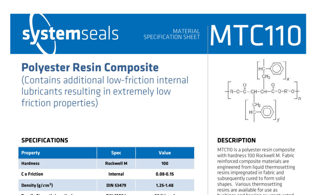 MTC110 Polyester Resin Low Friction 100M