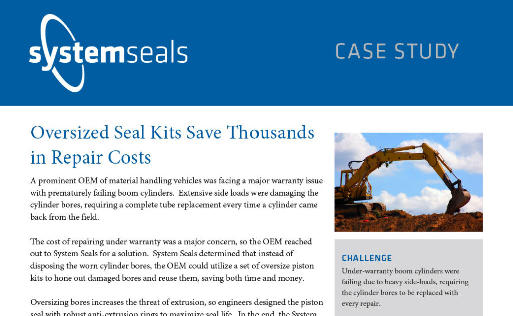 Oversized Seal Kits Save Thousands in Repair Costs