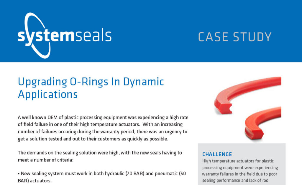 Upgrading O-Rings In Dynamic Applications